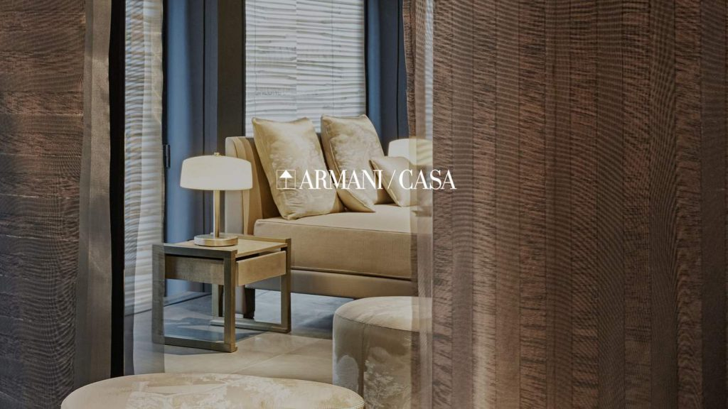 Scent company now scenting the new home of armani casa for Armani arredo casa